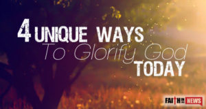 4 Unique Ways To Glorify God Today