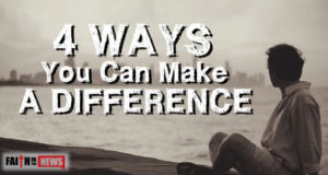4 Ways You Can Make A Difference