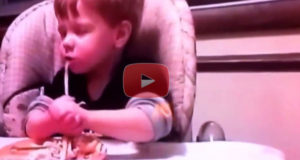 This Hilarious Video Shows A Little One Having A Hard Time Waiting For The Prayer To Be Over Before Eating