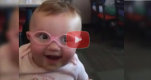Watch This Baby Girl's Reaction To Seeing Her Parents Clearly For The First Time
