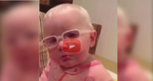 """Little Girl With Poor Eyesight Gets Emotional When Mother Sings """"Amazing Grace"""""""