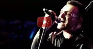 U2 Singing Amazing Grace