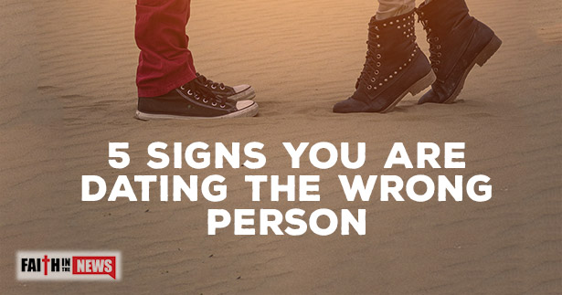 "ten signs youre dating the wrong person ""if you're always with mr wrong, you'll never meet mr right,"" a friend once advised me after draping my relationship malaise all over her rather than letting this cliche breeze past me, i pondered it."