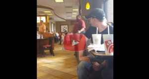 Man with Amazing Voice Starts Singing 'Proud to be an American' at Chick-Fil-A