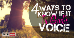 4 Ways to Know if It's God's Voice
